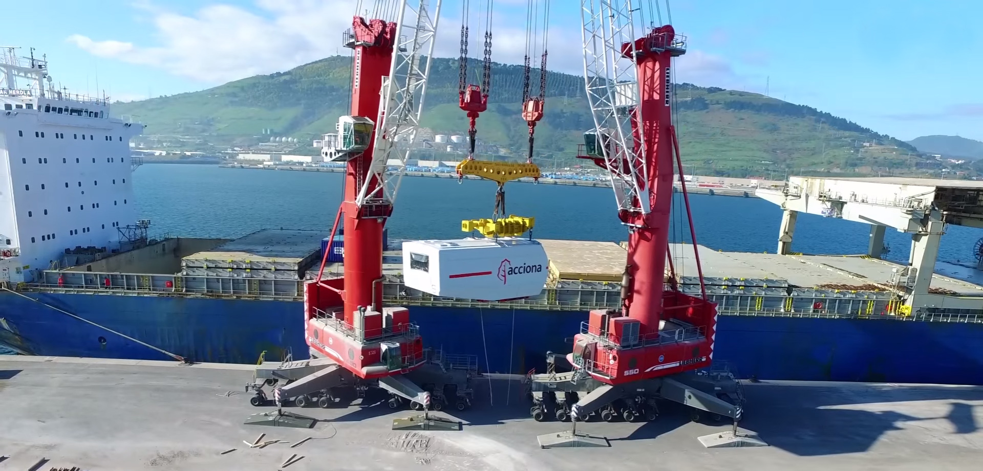 Wind Turbine Components Are On Their Way To The San Roman Wind Farm